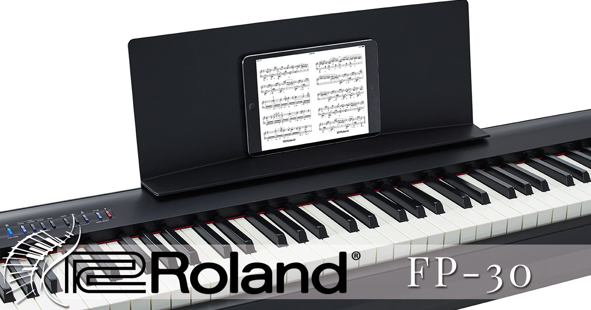 roland fp 30 portable digital piano buy online roland digital pianos electronic piano. Black Bedroom Furniture Sets. Home Design Ideas
