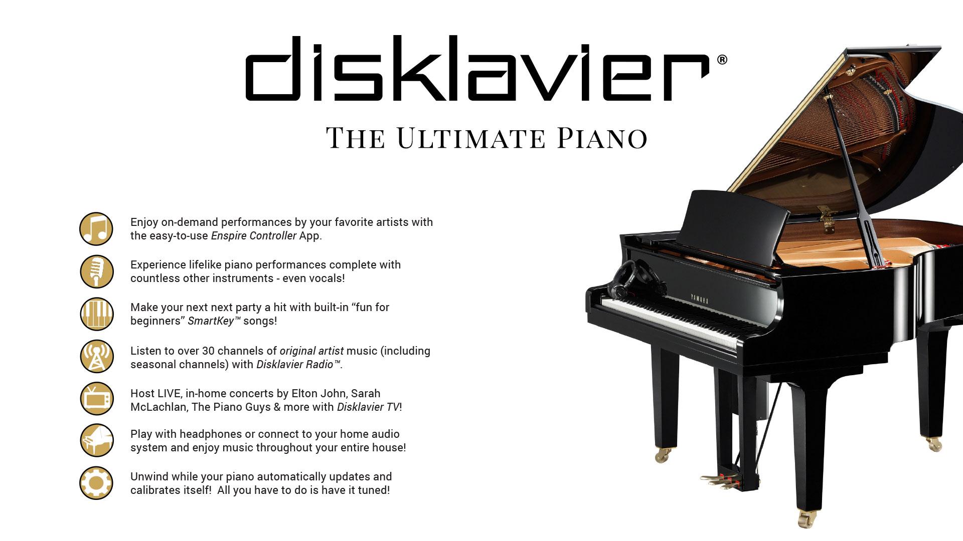 Yamaha Dgb1k Disklavier Enspire Baby Grand Piano